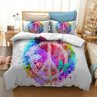 World Peace Butterfly Doona/Duvet/Quilt Cover Set Single/Double/Queen/King Bed