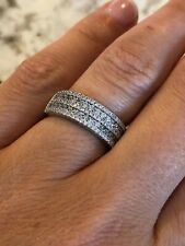 5 Row 925 Sterling Silver Wedding/Anniversary Band with CZ - 20%  to Charity