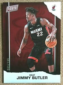 Jimmy Butler 2021 Panini Father's Day Silver Foil Parallel #BK13 /199 Miami Heat