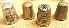 24 ASSORTED THIMBLES, BRASS, WHITE METAL AND CHINA/CERAMIC COLLECTIBLES