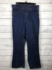Vintage Levis 646 Orange Tab Jeans 70's Bell Bottom Denim Dark Wash Talon 33x32