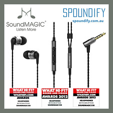 Grey SoundMagic E80C in ear Earphone with mic for iPhone and Android