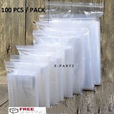 100x Centimeter Clear Zip lock Plastic Ziplock Bags Poly Jewelry Zipper Baggies