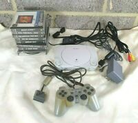 Retro Sony PSone Console Bundle - Working - Playstation - PS1 Games - Controller