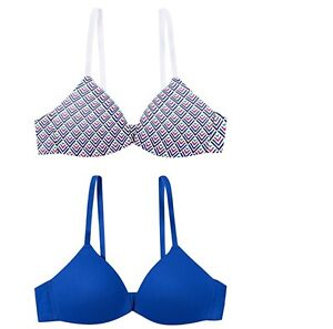 Hanes Girl's Tagless 2-Pack Molded Wire free Bra