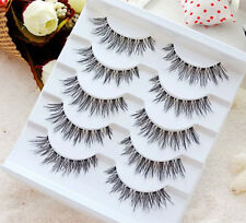 5 Pairs False Lashes  100% Human Hair Eyelashes Makeup Pure Handmade US