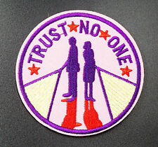 Trust No One X Files Embroidered Iron On Sew On Patches Badges Transfers Patch