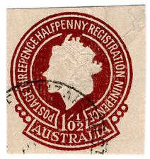 (I.B) Australia Postal : QEII Registration 1/0½d