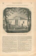 Exposition Produits Palais de Industrie Champs-Elysées Horticulture GRAVURE 1849