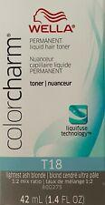 Wella Color Charm Permanent Liquid Hair Color Toner 1.4oz T11/T15/T18/T27/T35