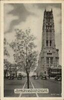 New York City Manhattan Riverside Drive & Church Postcard