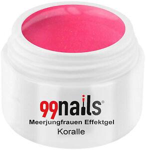 Meerjungfrauen Effektgel Koralle Glitter Gel Rosa Pink Farbgel Glitzer
