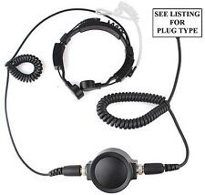 VERTEX HEAVY DUTY THROAT MIC WITH ACOUSTIC TUBE EARPIECE - VX231 VX351 VX354 ETC
