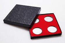 Display Box for Coins in Airtite Capsule Holder 4 H Red Felt Interior