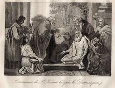 GRAVURE RELIGION / COMMUNION DE St JEROME d'après le Dominiquin