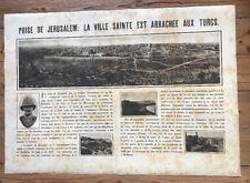 AFFICHE  PROPAGANDE PRISE DE JERUSALEM SUR  LES TURCS JUDAICA 1919