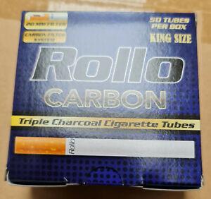 1000 CARBON TRIPLE FILTER 50'S EMPTY ROLLO TUBES Cigarrette Tobbacco Filter