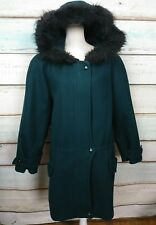 DESIGNS BY LANE BRYANT WOMENS WINTER COAT FAUX FUR HOOD SIZE 22/24