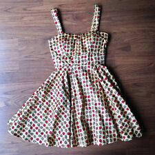 Gabriella Rocha Swing Dress Small Rockabilly Vintage Apple Pin Up VLV Retro