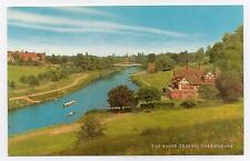 "Postcard  "" The River Severn, Shrewsbury "".  Not posted."