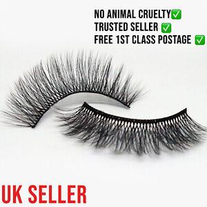Wispease SILK false lashes 4D FLUFFY FAUX MINK VEGAN CRUELTY FREE EYELASHES UK