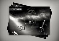 DJ David Guetta Onstage Autographed Poster Print. A3 A2 A1 Sizes
