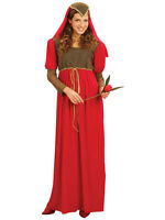 Ladies Juliet Maid Medieval Fancy Dress Outfit Marion Tudor Robin Hood Costume