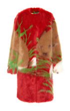 "MARCO DE VINCENZO ""POP"" FAUX FUR WOMEN COAT Sz. 42IT / 6 US"