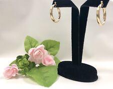14k Yellow Gold Filled Hoop Earrings, Women's Jewelry Aretes Oro Laminado, *NEW*