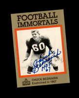 Chuck Bednarik Hand Signed 1985 Football Immortals Philadelphia Eagles Autograph