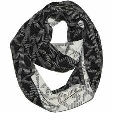 NWT Michael Kors Women's MK Logo Infinity Loop Scarf Black 537496CL MSRP $52