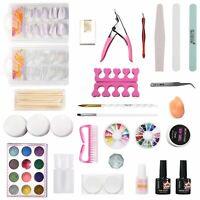 Acrylic Glitter Powder Nail Art Manicure Tool Tips Brush DIY Pro Full Kit Set