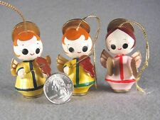 3 Angels playing Cymbals & Violin� Miniature Wooden Christmas Ornaments