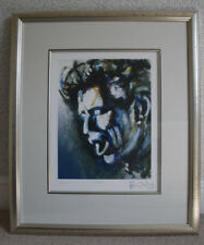 """RONNIE WOOD HAND SIGNED LIMITED EDITION PRINT OF KEITH RICHARDS """"TOUCH"""" FRAMED"""