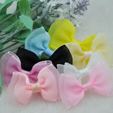 10 pcs U pick Fancy Organza ribbon bow wedding baby doll appliques Lots B03