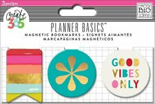 The Happy Planner - PLANNER BASICS Magnetic BOOKMARKS 3pcs - BRIGHT