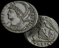 CONSTANTINOPOLIS / CONSTANTINE l. 307-337 AD. Follis Bronze Coin + COA, Siscia