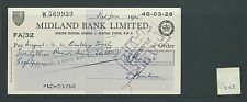 wbc. - CHEQUE - CH1125- USED -1965 - MIDLAND BANK, HENDON CENTRAL, LONDON NW4