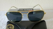 Ray-Ban Caravan Gold Metal Frame/Gray Lens Non-polarized Sunglasses BRAND NEW!