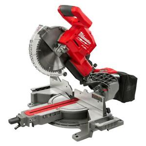 """Milwaukee M18 FUEL Cordless Dual Bevel Sliding Compound Miter Saw 10"""" Tool Only"""