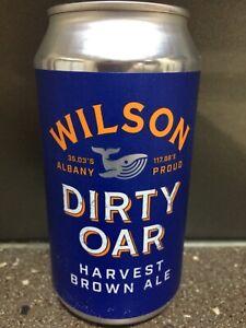 1 X 375ml Wilson Brewing - Dirty Oar Harvest Brown Ale Craft Beer Can - Sticker