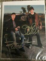 Genuine Jensen Ackles & Jared Padalecki Hand Signed 8X10 Photo Supernatural COA