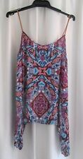 LADIES PRETTY COLOURFUL SLEEVELESS TOP by ROCKMANS size 10