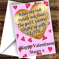 NEW PERSONALISED GIRL LOVE ISLAND VALENTINES DAY CARD ADD ANY NAME & TEXT!