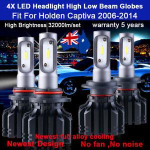 For Holden Captiva 2007 2008 2009 4x Headlight Globes High Low beam bulbs white
