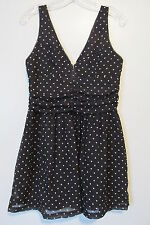 By Corpus Black Polka Dot  Ruched Waist & Hook Bust Mini Dress SIZE:6