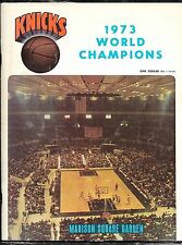 Oct 2 1973 Knicks/Reed v Nets/Erving NBA/ABA Battle of NY Champs Program MSG!