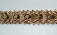 "7/8"" Braid 3 YDS Dark Tan and Brown matched Tassel Fringe Cording Brush Fringe"