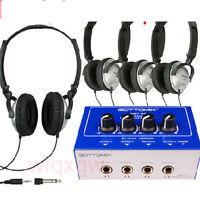 Headphone headset  Earphone Amplifier Splitter Distribution Amp