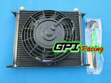 """30 Row AN-10 AN Universal Transmission Oil Cooler & 7"""" fan JAPAN TUNING CARS"""